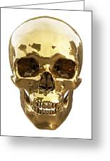 Golden Skull Greeting Card by Vitaliy Gladkiy