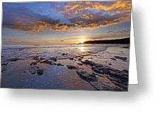 Golden Sky Lyme Regis Greeting Card