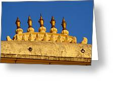 Golden Spires Udaipur City Palace India Greeting Card