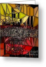 Golden Stained Abstract Greeting Card