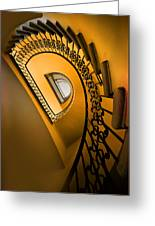 Golden Staircase Greeting Card