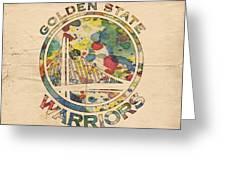 Golden State Warriors Logo Art Greeting Card
