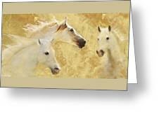 Golden Steeds Greeting Card
