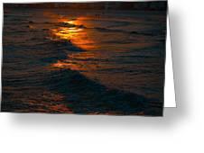 Golden Sun Set Greeting Card