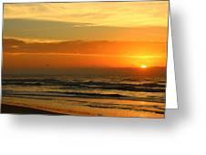 Golden Sun Up Greeting Card