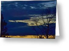 Golden Sunrise Into The Blue Greeting Card