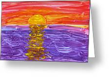Golden Sunset 2 Greeting Card
