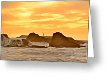 Golden Sunset At Ruby Beach Greeting Card