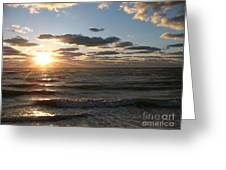 Golden Sunset  Clouds Greeting Card
