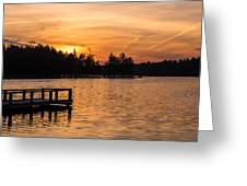 Golden Sunset Lake Horicon Lakehurst Nj Greeting Card