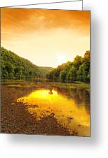 Golden Sunset On Buffalo River Greeting Card