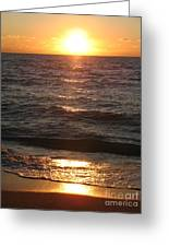 Golden Sunset At Destin Beach Greeting Card