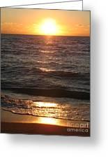Golden Sunset At Destin Beach Greeting Card
