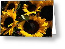 Golden Sunshine Greeting Card by Cole Black