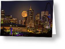 Golden Supermoon Greeting Card