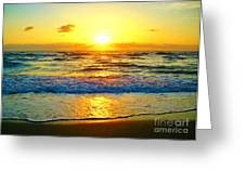 Golden Surprise Sunrise Greeting Card