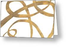 Golden Swirls Square II Greeting Card