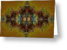 Golden Tapestry Greeting Card