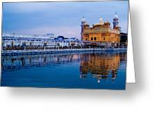 Golden Temple Blue Sky Greeting Card