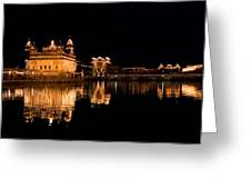 Golden Temple Reflected In Water Greeting Card
