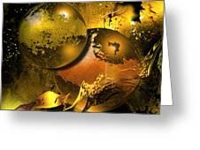 Golden Things Greeting Card by Franziskus Pfleghart