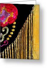 Golden Threads Greeting Card