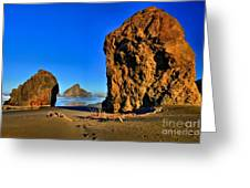 Golden Towers Of Bandon Greeting Card