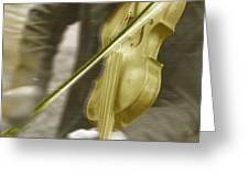 Golden Violin Greeting Card