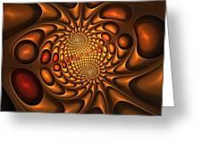 Golden Vortex Greeting Card