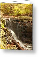 Golden Waterfall October In Ohio Greeting Card