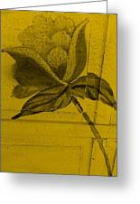 Golden Wood Flower Greeting Card