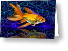 Goldfish Electric Greeting Card