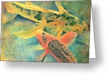 Goldfish Greeting Card by Robert Hooper