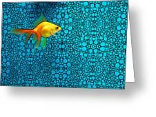Goldfish Study 3 - Stone Rock'd Art By Sharon Cummings Greeting Card
