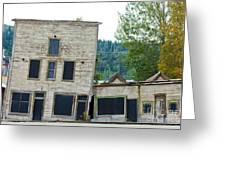 Goldrush Heritage Buildings In Dawson City Yukon Greeting Card