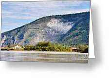 Goldrush Town Dawson City From Yukon River Canada Greeting Card
