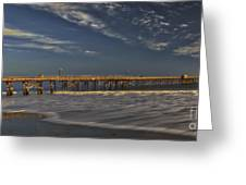 Goleta Beach And Pier Greeting Card