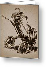 Golf Bag In The Grass  Greeting Card