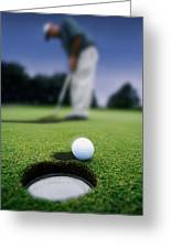 Golf Ball Near Cup Greeting Card