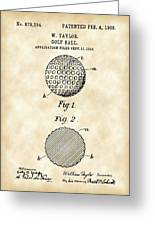 Golf Ball Patent 1906 - Parchment Greeting Card