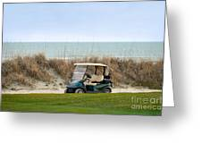 Golf Cart At Kiawah Island Golf Course Greeting Card