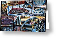 Golf Cart Collage Greeting Card