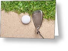 Golf Club And Ball Greeting Card