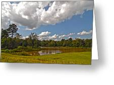 Golf Course Landscape Greeting Card