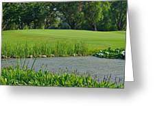 Golf Course Lay Up Greeting Card by Frozen in Time Fine Art Photography