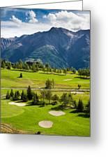 Golf Course Riederalp Valais Swiss Alps Switzerland Greeting Card
