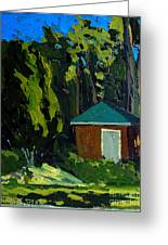 Golf Course Shed Series No.19 Greeting Card