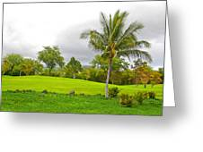 Golf Course Under Cloudy Skies Greeting Card