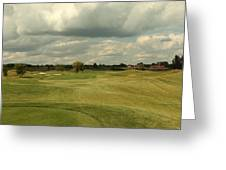 Golf Course With Clouds Greeting Card