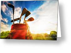 Golf Equipment  Greeting Card